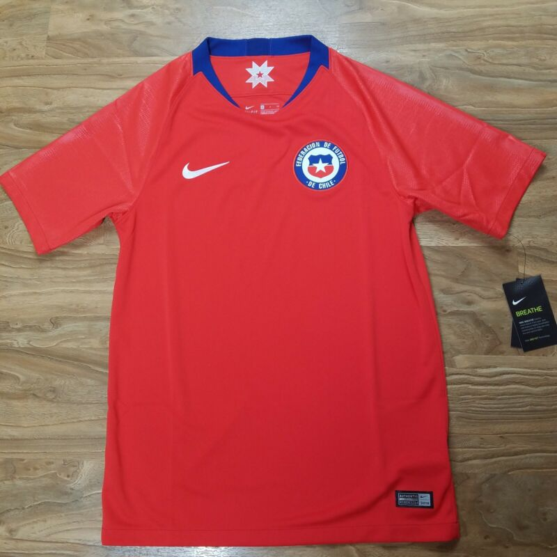 Nike Mens Chile World Cup Home Soccer Jersey Football 893860-673 Size Small $90