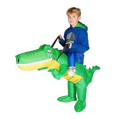 AUFBLASBARES KROKODILREITKOSTÜM FÜR KINDER TIERE ALLIGATOR SAFARI (Alligator Kostüme Erwachsene)