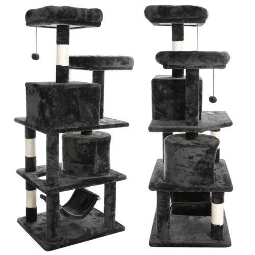 """Hammock Style 57"""" High Quality Cat Tree Tower for Multiple C"""