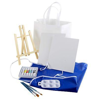 Artlicious 15 Piece Canvas Party Kit - Easel, Canvas Panel Boards, Acrylic - Acrylic Paint Kit