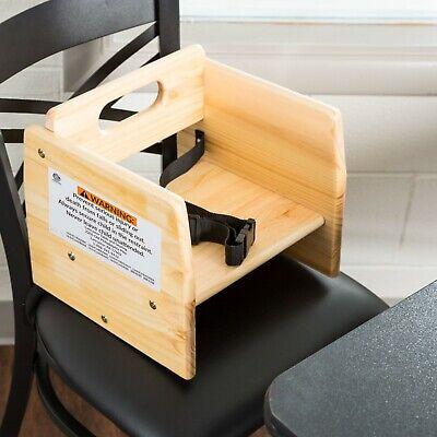 Natural Beige Wood Child Restaurant Booster Seat Chair