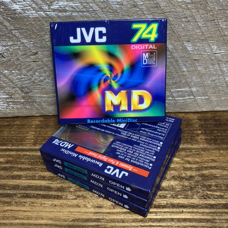 JVC MD-74 4 Brand New Recordable Minidiscs Made In Japan