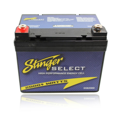 Stinger Select SSB2000 2000 Watt Secondary Car Battery 12V Power Series Dry Cell