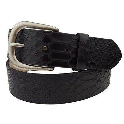 Genuine Leather Belt in Python Print