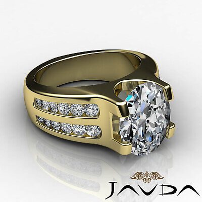 2 Row Channel Prong Setting Oval Diamond Engagement Ring GIA I Color SI1 1.62Ct 8