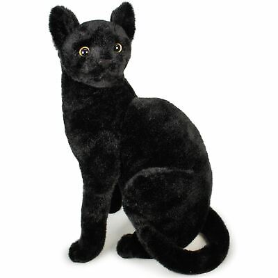 Boone the Black Cat | 14 Inch Stuffed Animal Plush | by Tiger Tale Toys