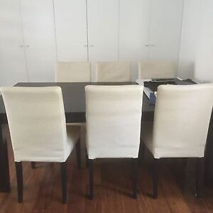 IKEA extension dinning table plus 6 chairs Mosman Mosman Area Preview