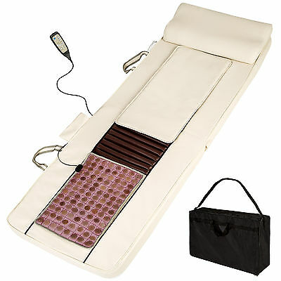 Shiatsu Massagematratze mit Jadestein Massagematte +Wärmefunktion + Remote