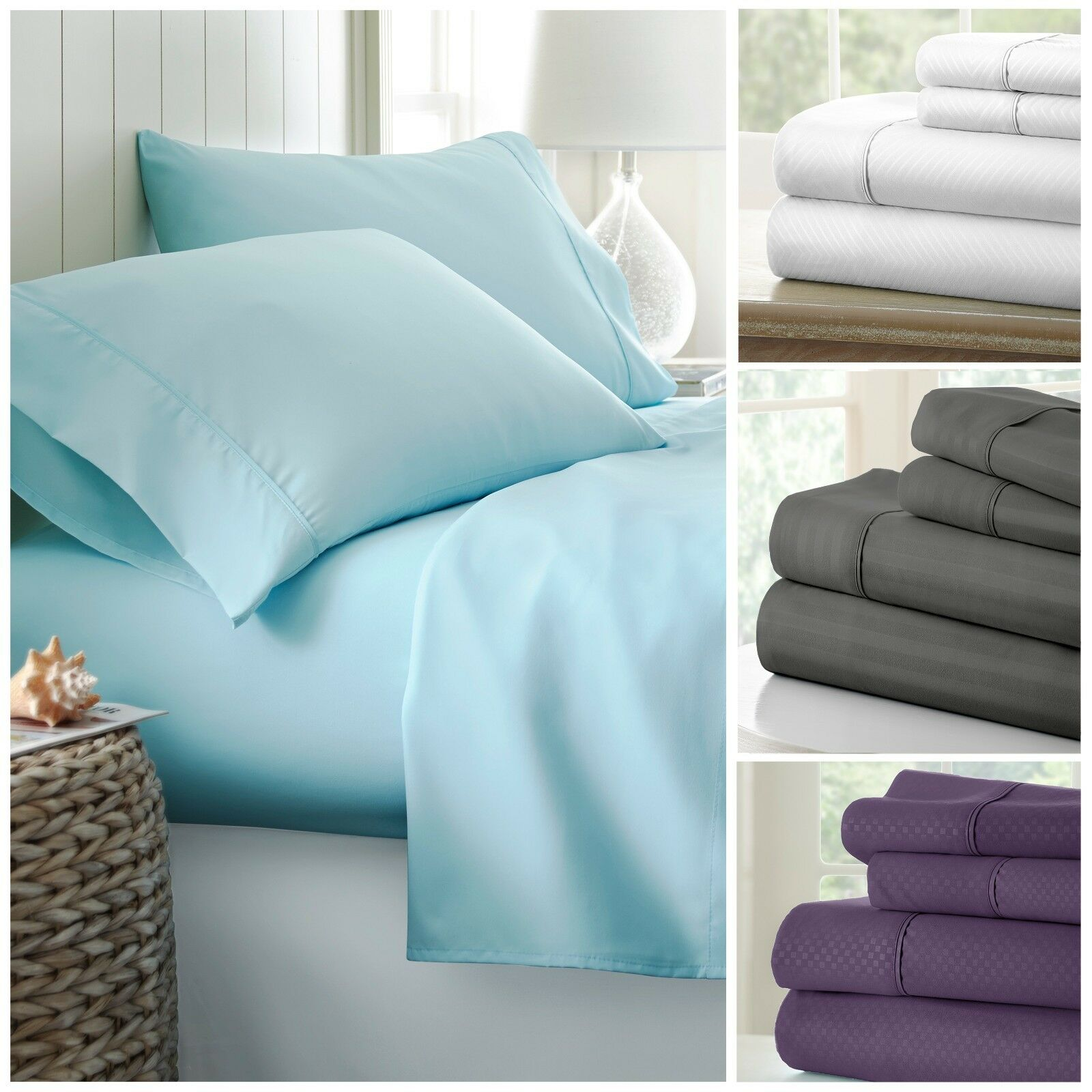 Hotel Quality Ultra Soft 4 Piece Bed Sheet Set - 4 Luxury Patterns Was: $79.99 Now: $17.99 and Free Shipping.