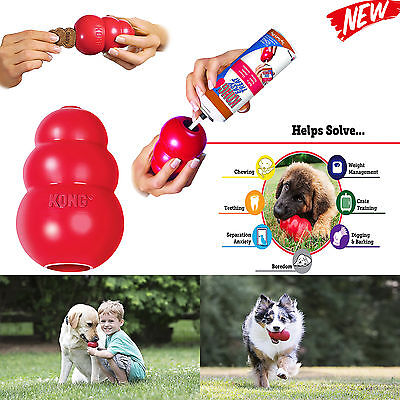 (World's Best Dog Toy KONG Classic Rubber Chew Toy For Dogs Stuffing Treats Sizes)