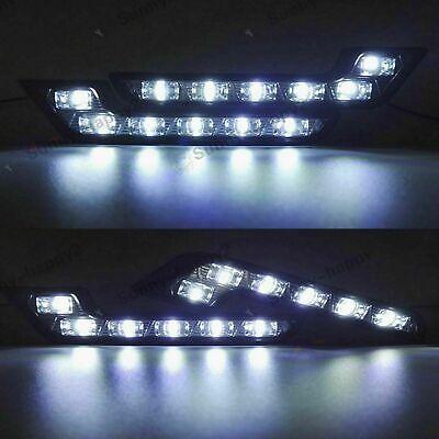 2/ Mercedes LED Tagfahrlicht L-Form Curve-Design 12V 8 x SMD LEDs E-Prüfzeichen