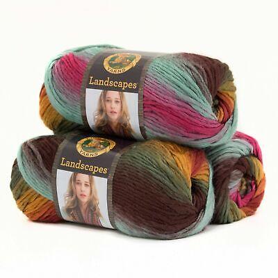 LANDSCAPE Lion Brand Yarn Desert Spring LOT of 3 skeins 545-204 FREE PATTERN
