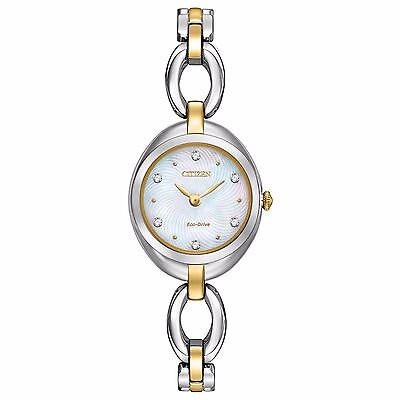 (Citizen Eco-Drive Silhouette Women's EX1434-55D Two-Tone Bracelet 24mm Watch)