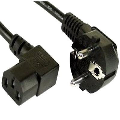 LL 1,5m Stromkabel BLACK Netzkabel Kaltgeräte Kabel Winkel abgewinkelt gewinkelt