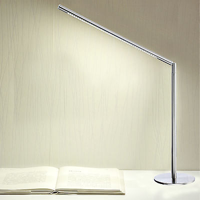LED Edelstahl Tischlampe Schreibtischlampe Tischleuchte Bürolampe Leselampe Neu