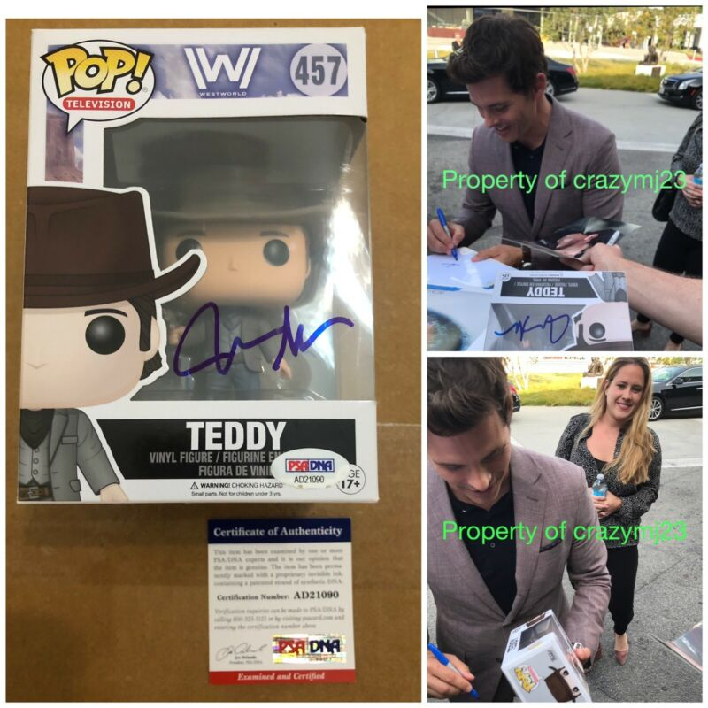James Marsden Signed Teddy Westworld Funko Pop! Autograph Sonic Proof PSA COA