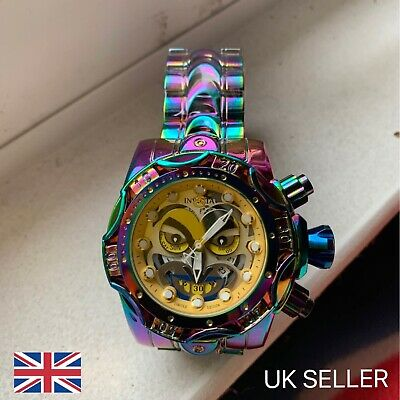 Invicta Watch - Joker - limited edition. Multicoloured - Gold Face - Rare*