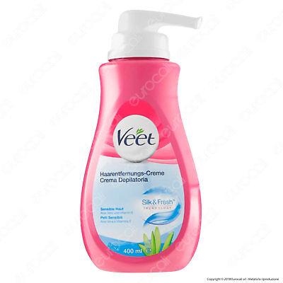 Veet Crema Depilatoria Silk & Fresh Technology Per Pelli Sensibili - 400 ml