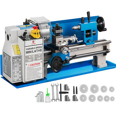 7x14 Mini Metal Lathe 550w Precision Metalworking Variable Speed Milling