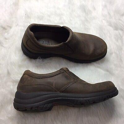 Dansko Sport Mens Clogs Size 44 Brown Pull On Slip Resistant J8E Dansko Mens Clogs