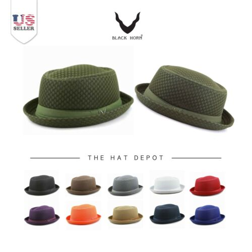 Porkpie Hat - Light Weight Classic Soft Cool Summer Mesh Porkpie Hat 7060
