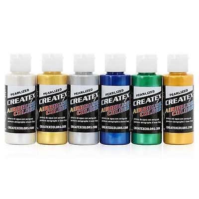 Createx Colors Airbrush Paint Pearlized Set 5804-00 - 6 Colors - 2 oz