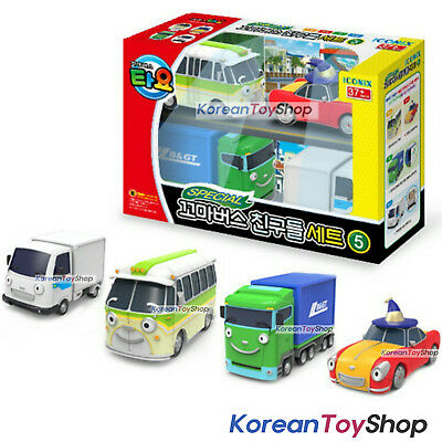 Little Bus TAYO Friends Special 4 pcs Mini Car Toy V.5 Buba Lucy Big Tony NEW