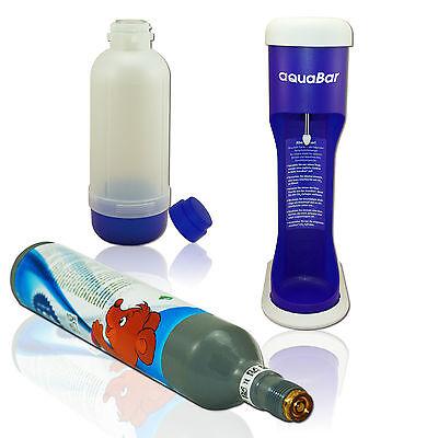 Aqua Bar Trink Wasser Sprudler mit 1x CO² Zylinder Soda Wassersprudler Blau maxx