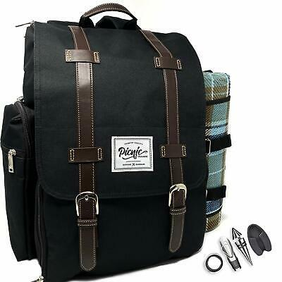 Picnic Paradise Co Picnic Backpack for 4 with Waterproof Pic