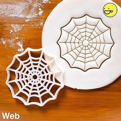 Cobweb cookie cutter | trick treats spider web Halloween party spiderweb biscuit ()