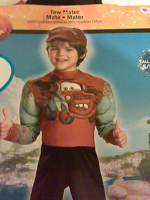 NWT Disney Cars Tow Mater Muscle Halloween Costume Small 4-6 Jumpsuit and Hat