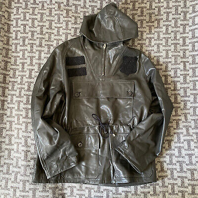 Kent and Curwen leather overhead coat