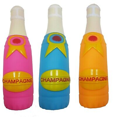Set of 3 Champagne Bottle Bottles Dog Toy Vinyl Squeaky Pet Toys For Puppy