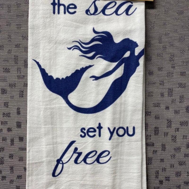 Let the Sea set you free Mermaid Kitchen Dish towel Cotton P26