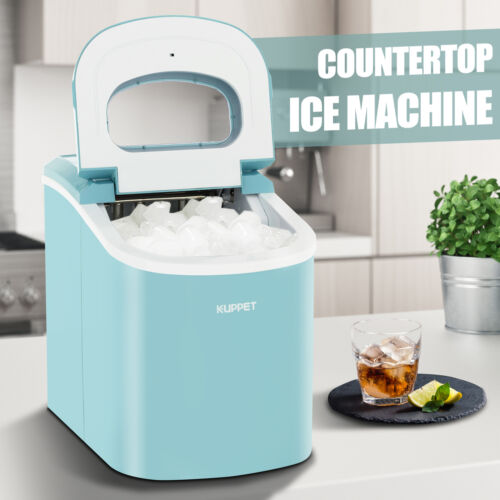 26 LBS Portable Electric Ice Maker Countertop Ice Cube Compa