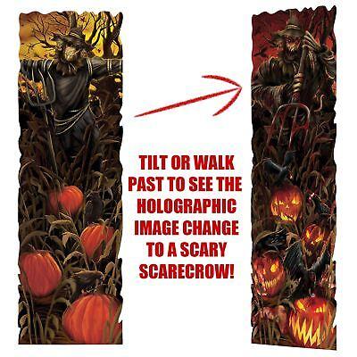 94cm Halloween Evil Vogelscheuche Kürbisse Lenticular Party Wand Dekoration