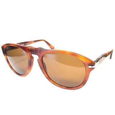 PERSOL 649 96/33 Terra di Siena Brown Tortoise Sunglasses 54mm (MSRP $360)
