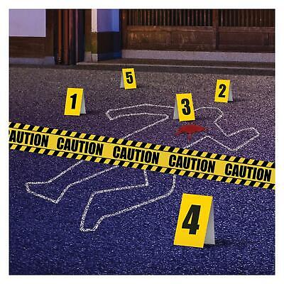 Crime Scene Decoration Fancy Dress Kit Chalk Caution Tape Fa