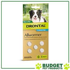 DRONTAL For Medium Dogs 3-10kg 5 tablets