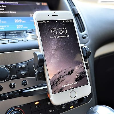 360° Car CD Slot Dash Cell Phone Mount Holder for Mobile iPhone 6s 7 Plus GPS