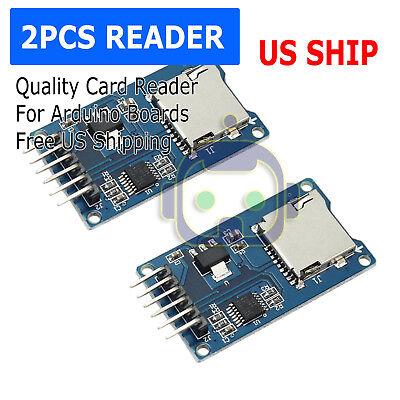 2PCS Read And Write For Arduino ARM MCU SD Card Module Slot Socket Reader N150