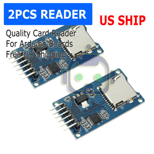 2PCS Read And Write For Arduino ARM MCU SD Card Module Slot Socket Reader N150