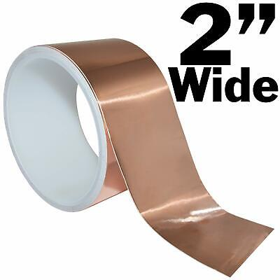 16 Feet Of 2 Inch Wide Copper Foil Tape With Adhesive - Ideal For Emi Shielding