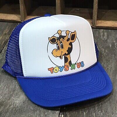Toys r Us 80's 90's Style Trucker Hat Snapback Geoffrey Giraffe Toy Store Blue