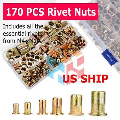 Metalrivet Nutkit Metric Rivnut Nutsert Assort M3 M4 M5 M6 M8 Pack 150pcs