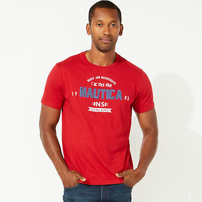 Nautica Mens Boats And Watercrafts Graphic Tee