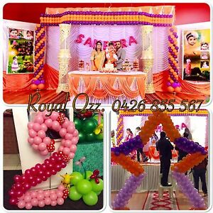 Orange & purple balloon decoration Lynbrook Casey Area Preview