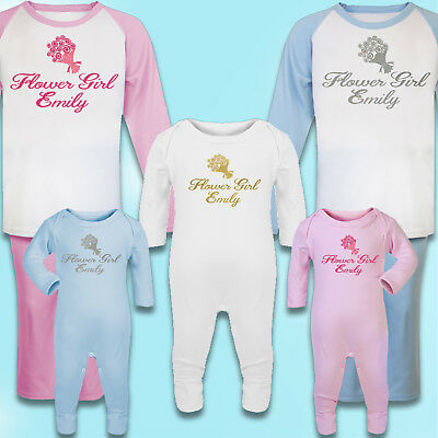 Personalised Flower Girl Gift Printed 100% Cotton Pyjamas - Flowergirl Gift - Flower Girl Pajamas