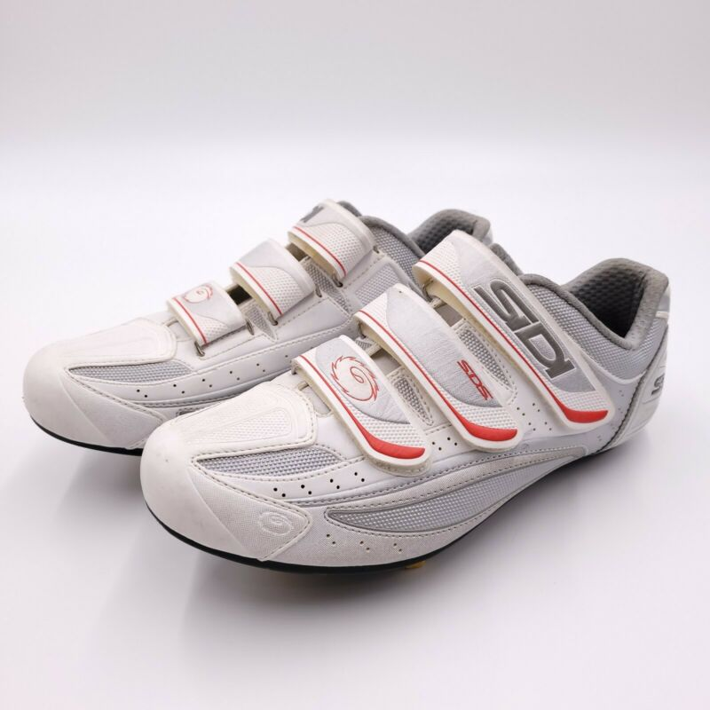 Sidi Nevada Cycling Shoe Size 44 White And Red