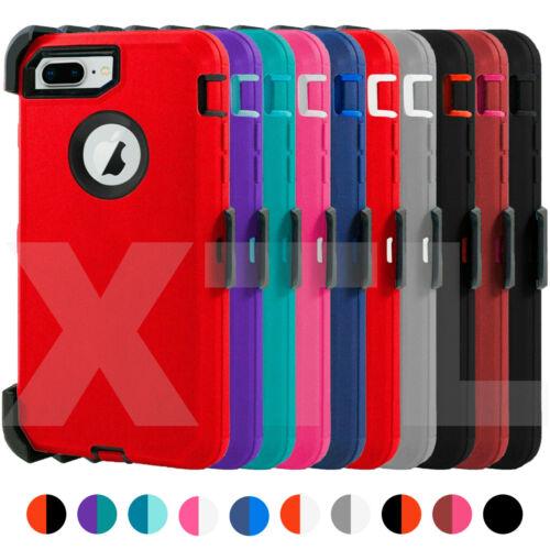 Shockproof Hard Case Cover iPhone 7 8 Plus [ Belt Clip Fits Otterbox Defender ]